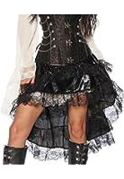 Vokuhila Volant Rock im Piraten Look für Karneval und Fasching A13242