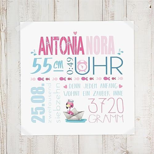 Geburtsdaten Wandbild Antonia Und Nora Amazon De Handmade