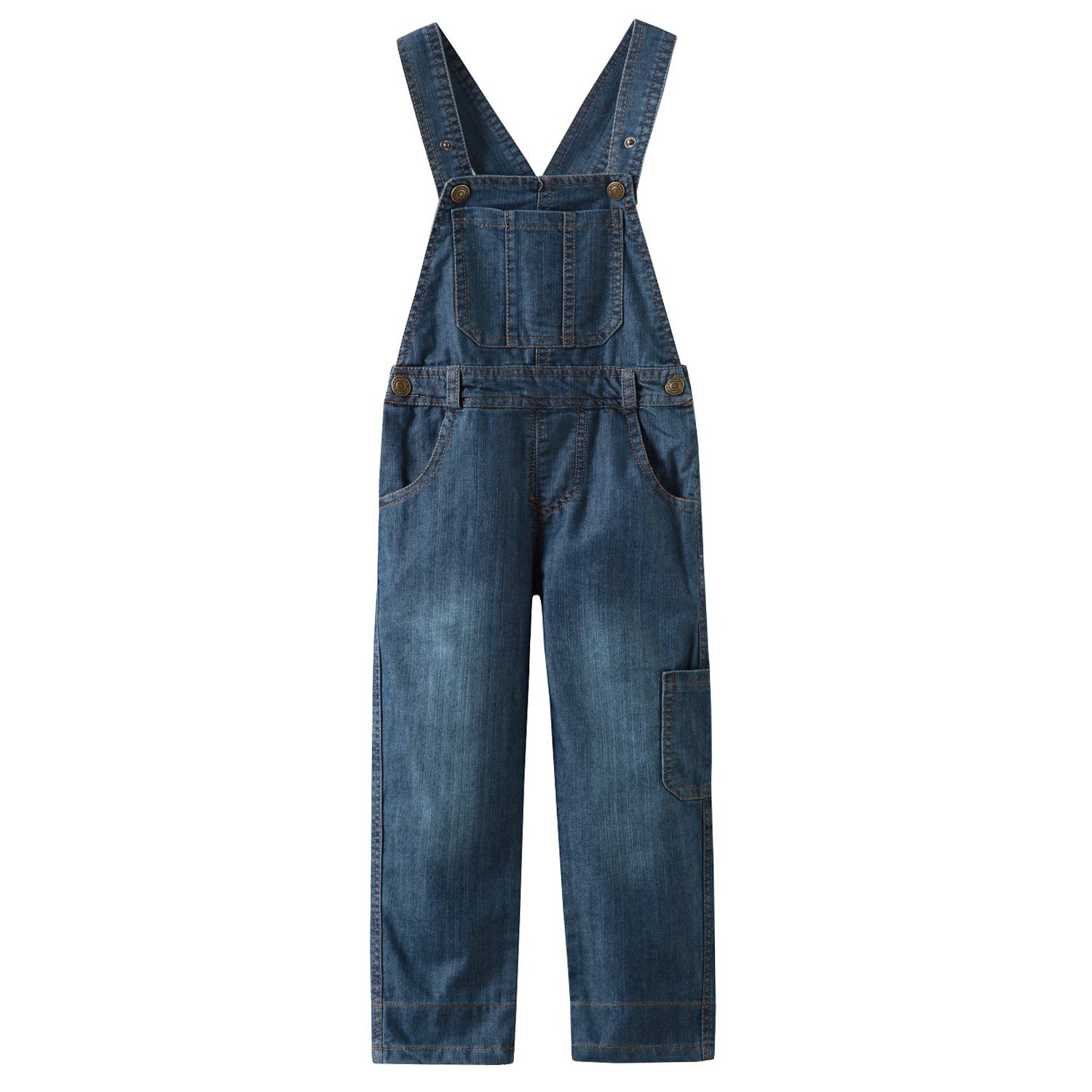 Grandwish Kids Blue Dungarees Boys Denim Bib Overalls 3 Years - 10 Years