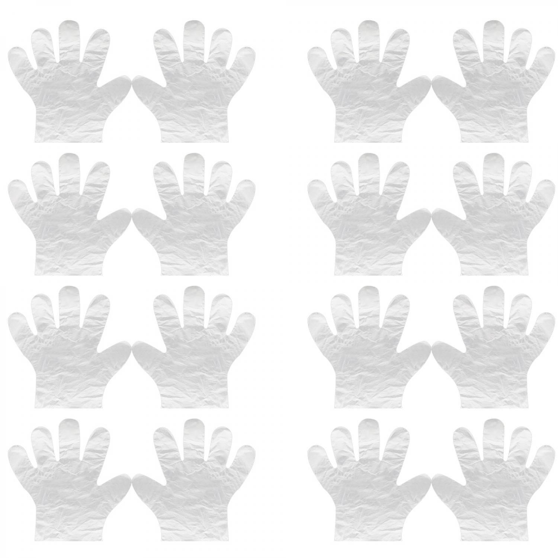 Vococal/® 250 paar Einweg Kunststoff Verdicken Transparente Handschuhe BBQ//Sushi Essen /Übergabe Verarbeitung Handschuhe Haare F/ärben F/ärbung Behandlung Einweghandschuhe