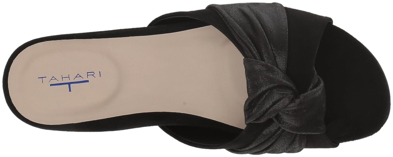 Tahari Women's Tt-Lass Slide Sandal B0773CVZX2 8 B(M) US|Black