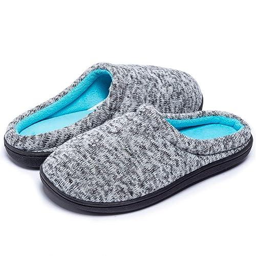 1fa74474ddfbf7 Beatific Bee Men s Women s House Slippers Soft Winter Memory Foam Indoor Outdoor  Non-Slip