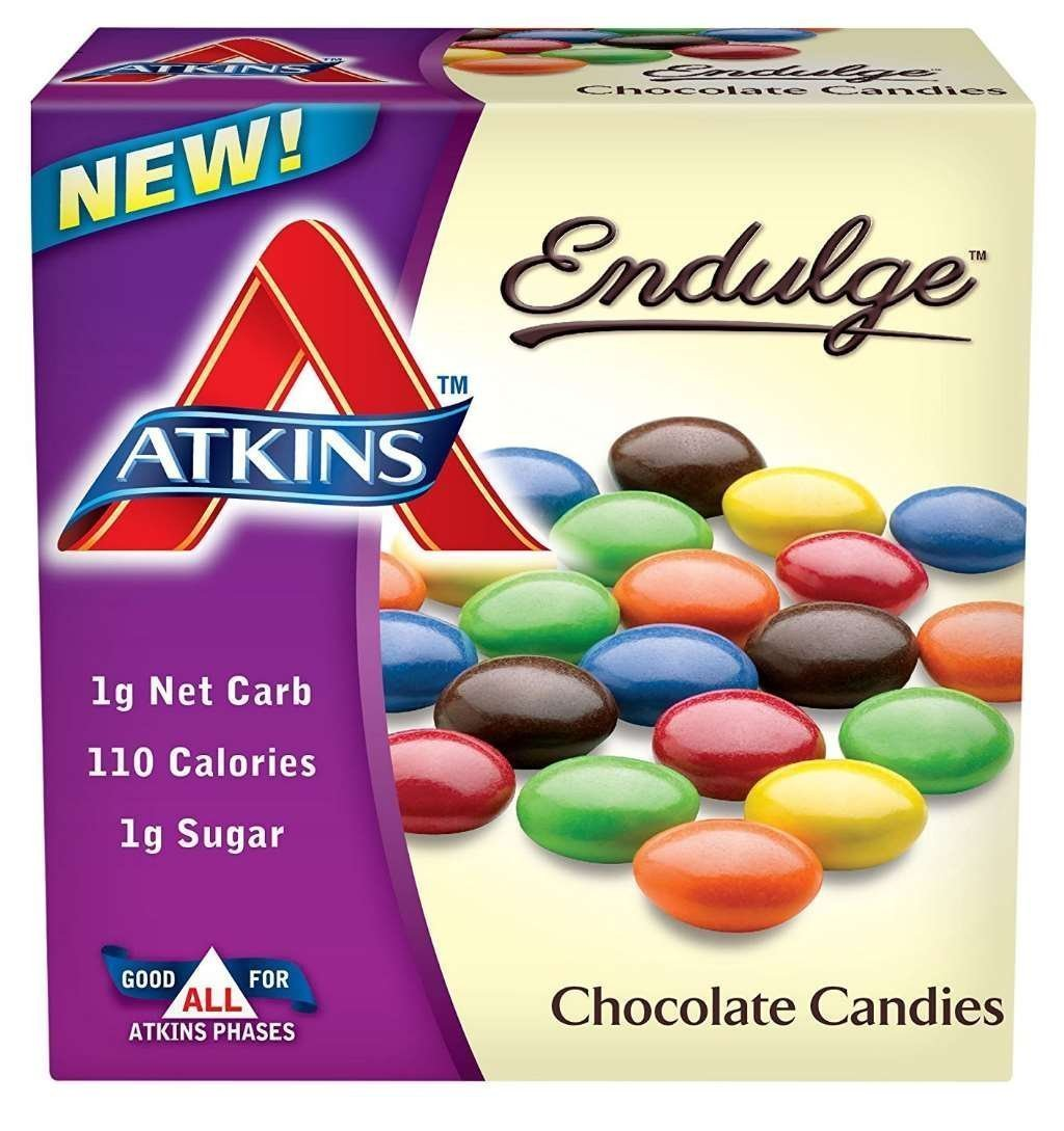 Endulge Candy Bars, Chocolate Candies, 5 Oz By Atkins (Pack Of 2) by Atkins