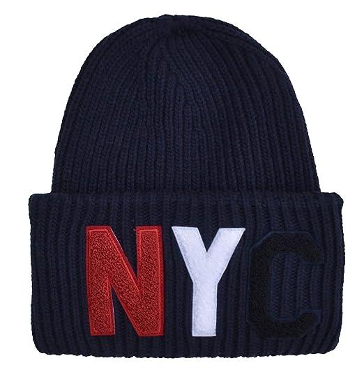 Tommy Hilfiger Men s Beanie Blue Dark Blue One Size  Amazon.co.uk  Clothing b6a98aa858e8