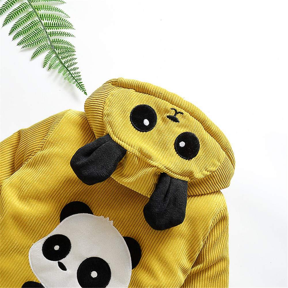 Jchen(TM) Infant Kids Little Girls Boys Cartoon Panda Winter Warm Jacket Hooded Zipper Outerwear Coat for 1-3 Y (Age: 12-18 Months, Yellow) by Jchen Baby Coat (Image #7)