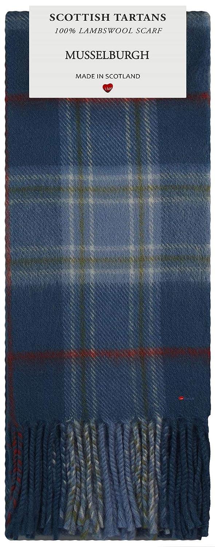 Musselburgh Tartan Plaid 100/% Lambswool Scarf /& Tie Gift Set