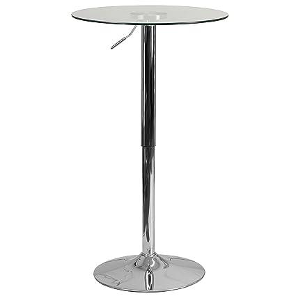 Adjustable Height Round Table.Flash Furniture 23 5 Round Adjustable Height Glass Table Adjustable Range 33 5 41