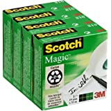 Scotch Magic Ruban Adhésif Invisible Lot de 4