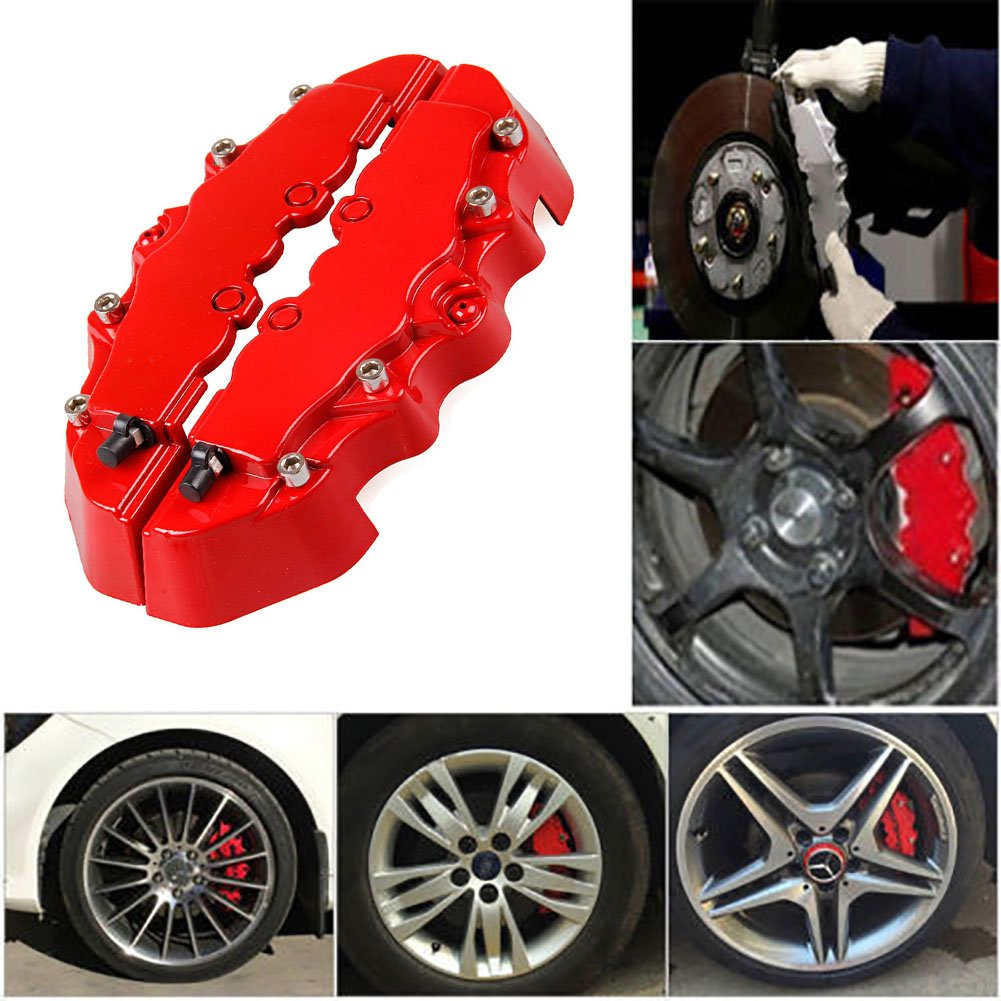 2PCS Disc 3D Abs Plastic Trim Brake Caliper Cover For Most Car Front Rear Decorations Kit EKYAOMEI