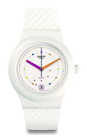 Swatch Reloj Digital para Mujer de Automático con Correa en Silicona SUTW403: Amazon.es: Relojes