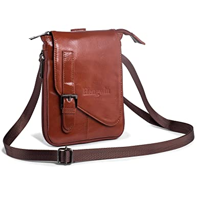 1527a895e4aa Hengwin Crossbody Shoulder Bag Men Purse Leather Phone Holster iPhone Pouch  Case