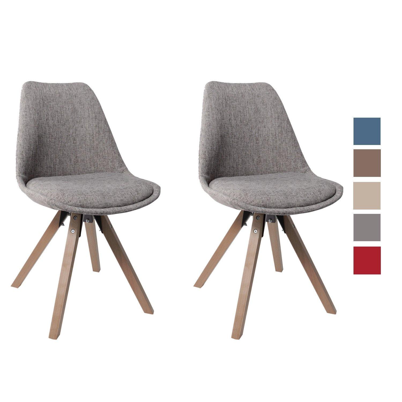 Duhome Elegant Lifestyle Stuhl Esszimmerstühle Grau Küchenstühle !2 ...