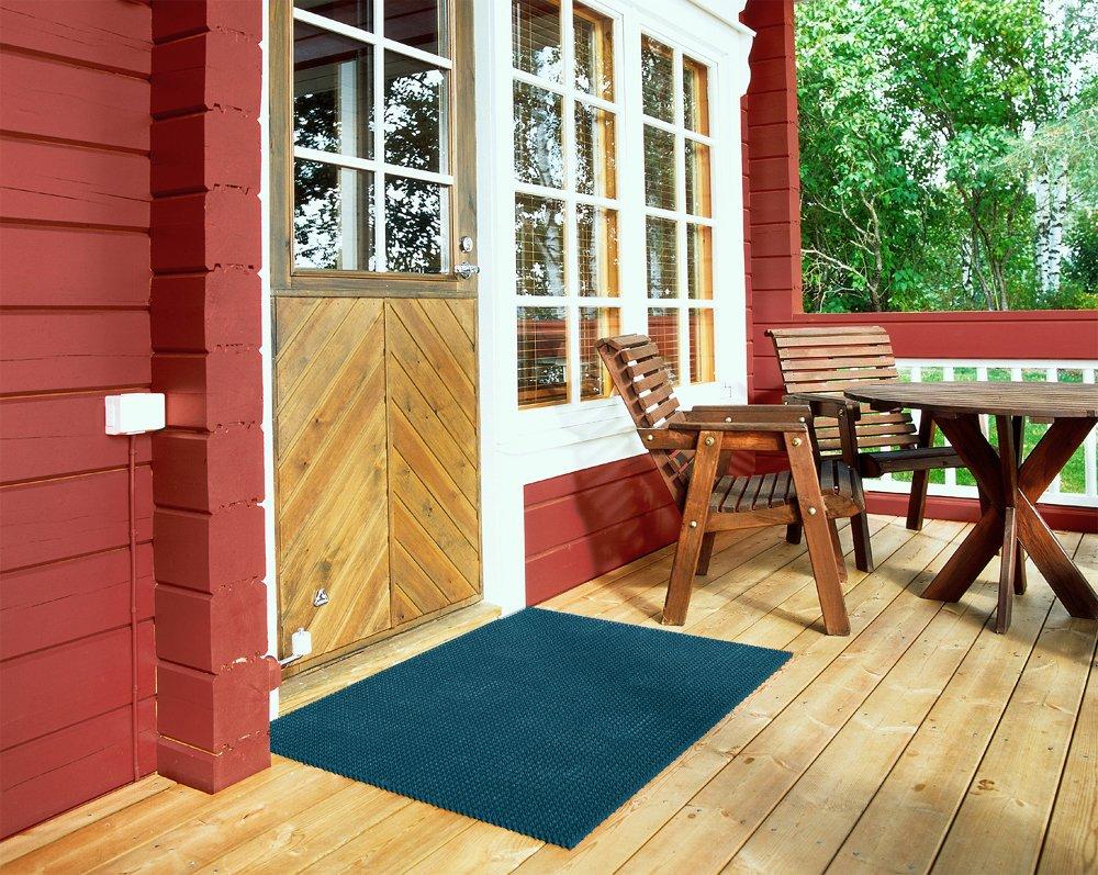 Fußabstreifer Rasenmatte für Außenbereiche (Blau   57x86 cm) modular modular modular erweiterbare, robuste Bürstenmatte - Höhe 17 mm - gegen groben Schmutz, Sand, Steinchen und Nässe B00KG7K0AC Fumatten a4b998