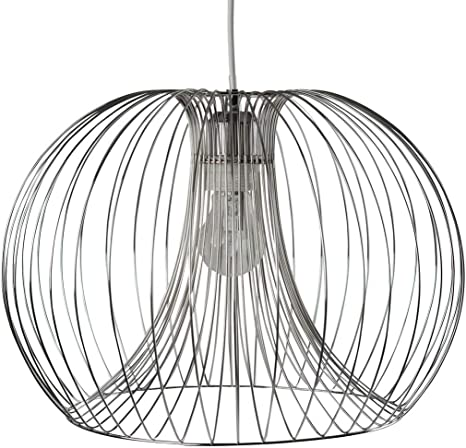 Contemporary Modern Chrome Wire Ceiling Pendant Chandelier Light Shade Amazon Co Uk Kitchen Home