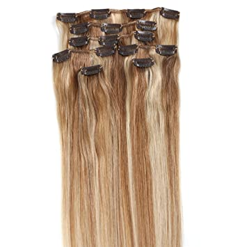 Amazon grammy 22 inch 7pcs remy clips in human hair grammy 22 inch 7pcs remy clips in human hair extensions 80g with clips for highlight pmusecretfo Image collections