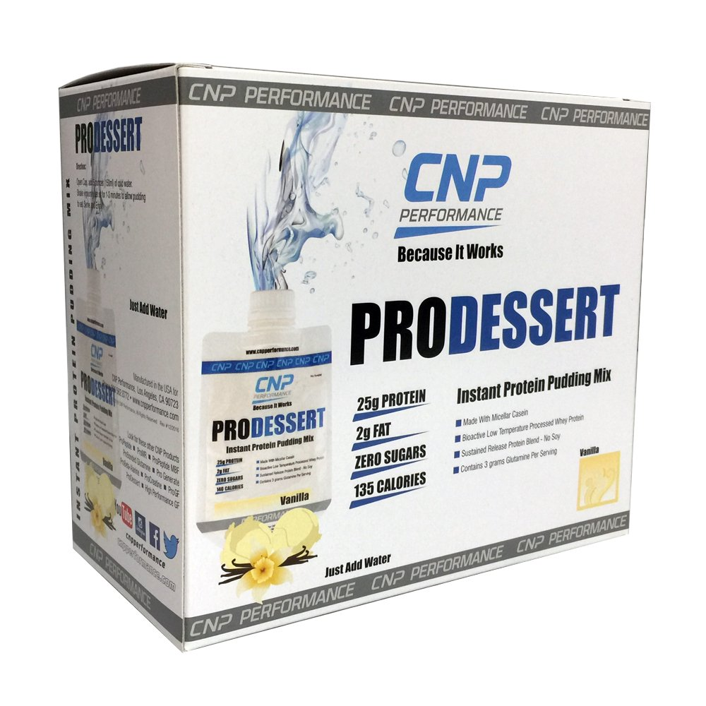 CNP ProDessert Instant Pudding   Professional Grade Protein Supplement   Ready to Mix/Just Add Water (1 box / 10 ct, Vanilla)