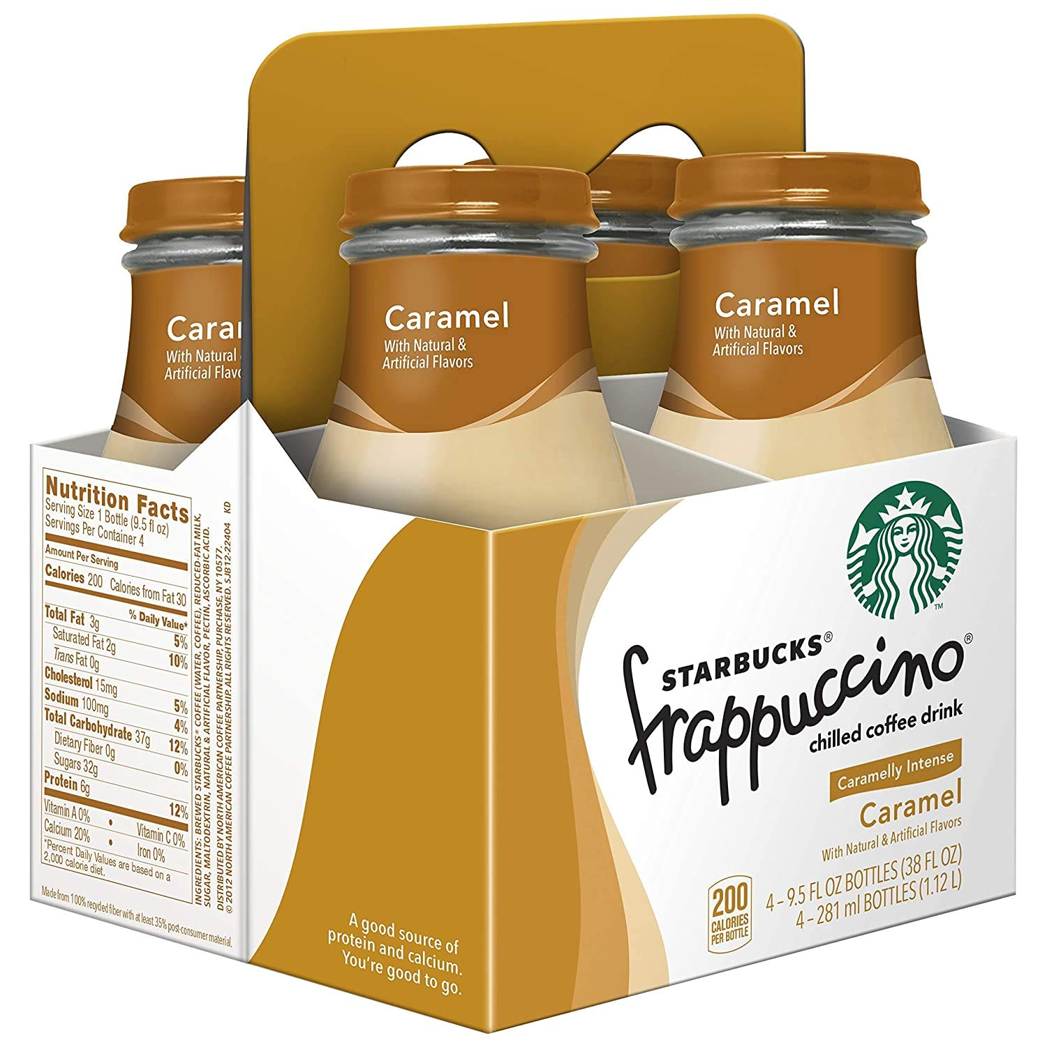 Starbucks Frappuccino Caramel Drink 4 X 281 Ml Amazon In Grocery Gourmet Foods