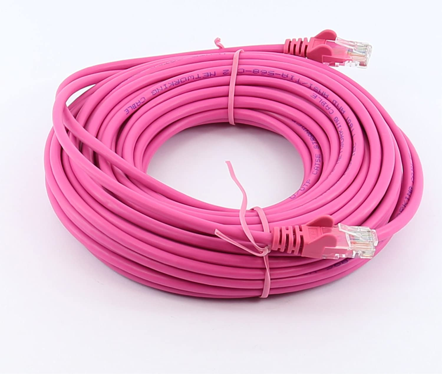 32ft 10in, Pink rhinocables Cat 5e Cat5e Ethernet RJ45 High Speed Network Cable Internet Fast Speed Lead