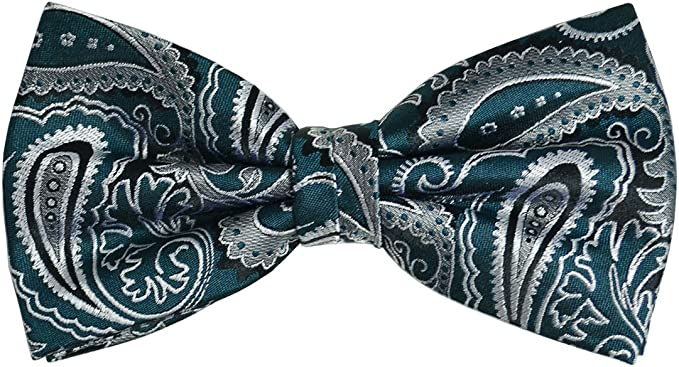 Paul Malone Silk Bow Tie Green