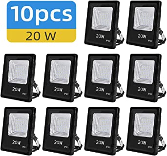 Ankishi Focos LED Exterior 10 Pack 20W, Foco Proyector Led 2000LM ...