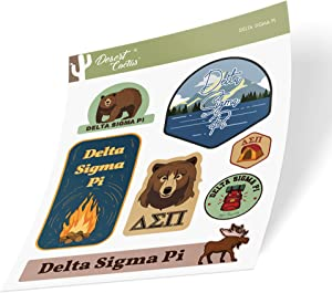 Delta Sigma Pi Sticker Decal Laptop Water Bottle Car (Outdoor Sheet)