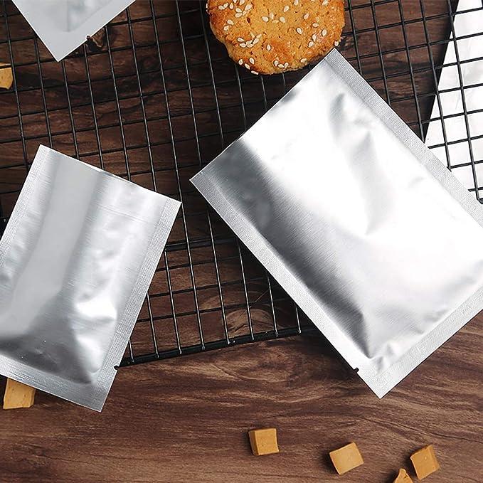 Guajave 100 sacchetti termosigillanti in alluminio per sottovuoto per frutta secca 5x7CM