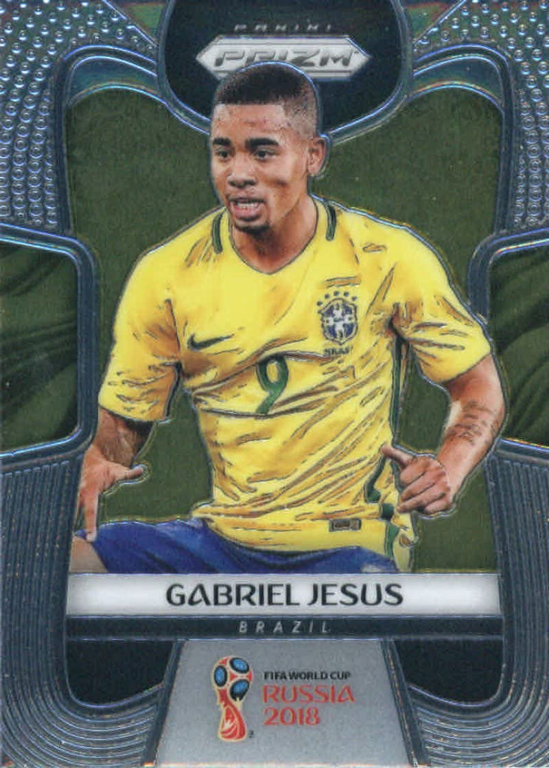 2018 Panini Prizm World Cup Prizms Silver #32 Gabriel Jesus Brazil Soccer Card