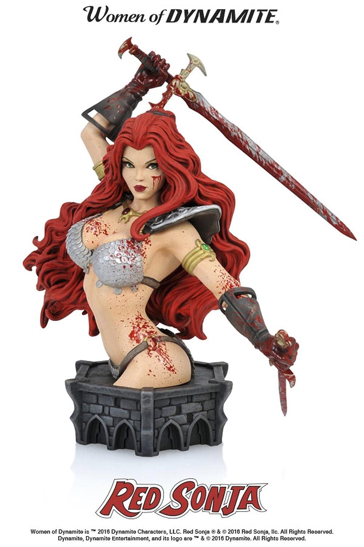 Red Sonja by Arthur Adams Dynamite Women of Dynamite Limited Resin Bust Diamond Comic Distributors NOV161490 Blood Variant