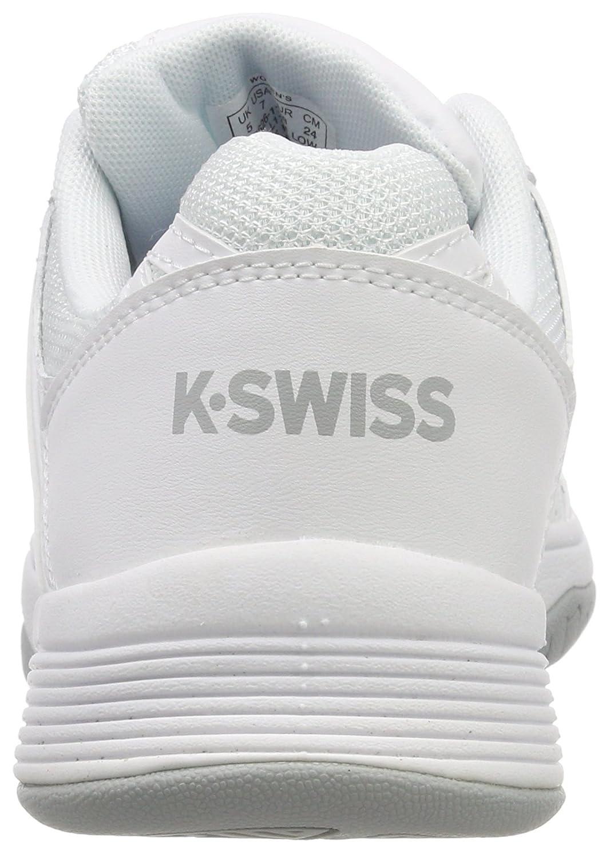 K-Swiss Women`s Court Smash Tennis Shoes White and Highrise-() B079SVZFMQ 8.5 B(M) US|White/White/Highrise