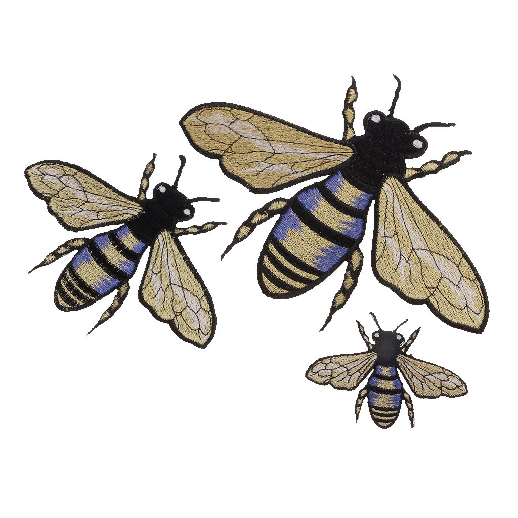 Gazechimp 1Stück / 4 Stück / Set Biene Insekten stickerei Stoff ...