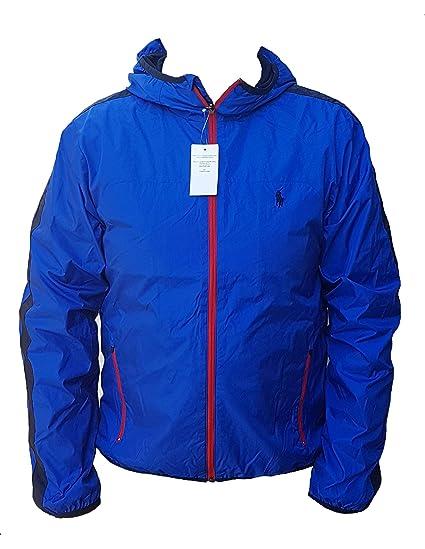 5960b2fb6 Ralph Lauren Polo Performance Tournament Windbreaker Jacket Mens Blue  (Large): Amazon.co.uk: Clothing