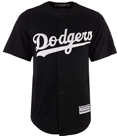 b00e543e50b Outerstuff Los Angeles Dodgers Blank Black White Youth Cool Base Fashion  Jersey (Small 8)