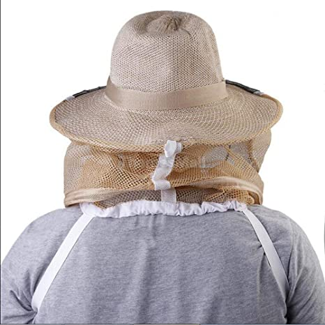 Beekeeper Beekeeping Cowboy Hat Mosquito Bee Insect Net Veil Head Face Protect..