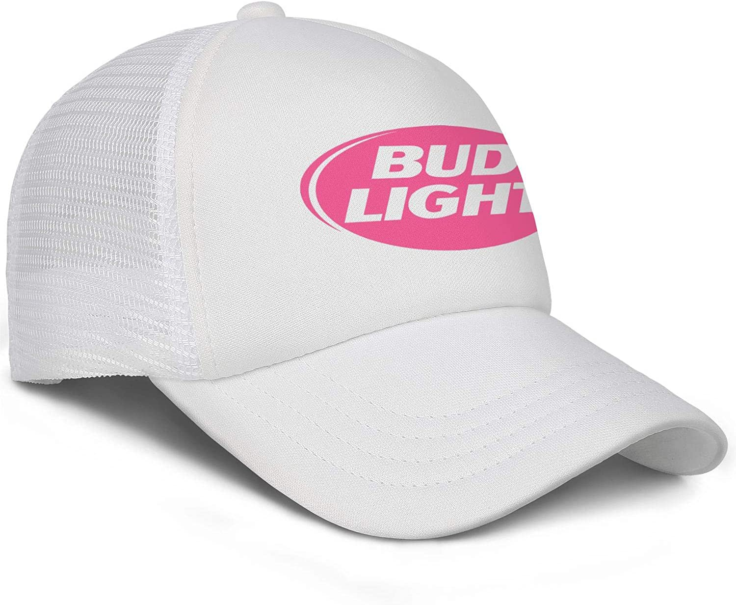 Men Unisex Adjustable Bud-Light-Beer-United-States-Pike-Breast-Cancer-Baseball Cap Sunshade Flat Hats