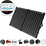 ACOPOWER UV11007GD 100W Foldable Solar Panel Kit, 12V Battery and Generator Ready Suitcase with Charge Controller