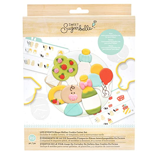 American Crafts 350378 SB Cookie Cutter SetLifeEvents, None ...