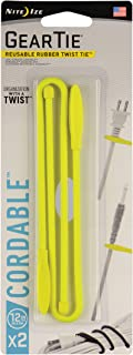 "product image for Nite Ize GTK12-33-2R7 Gear Tie Cordable, 12"", Neon Yellow"