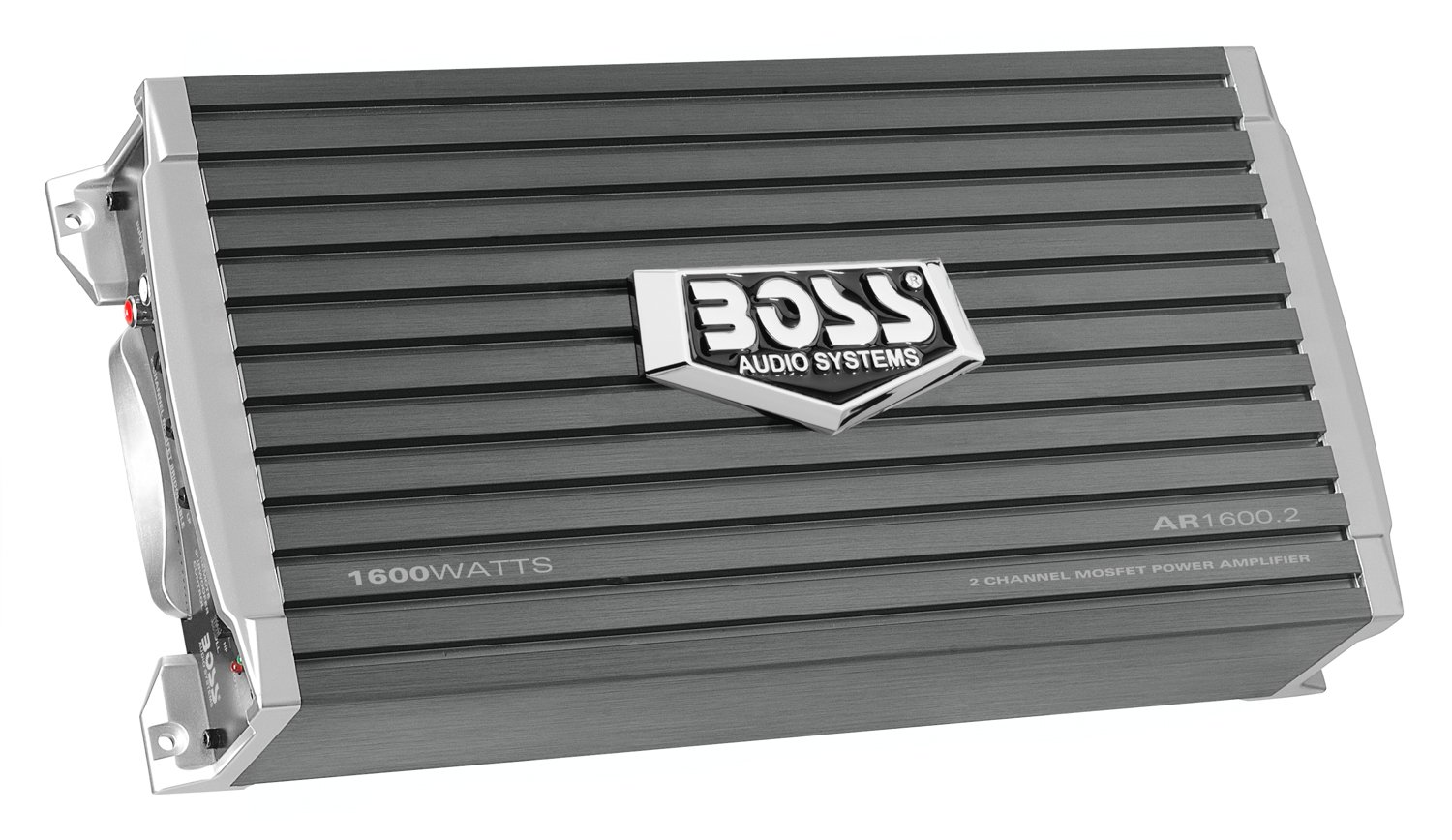 BOSS Audio Systems AR1600.2 2 Channel Car Amplifier - 1600 Watts, Full Range, Class AB, 2-4 Ohm Stable, Mosfet Power Supply, Bridgeable
