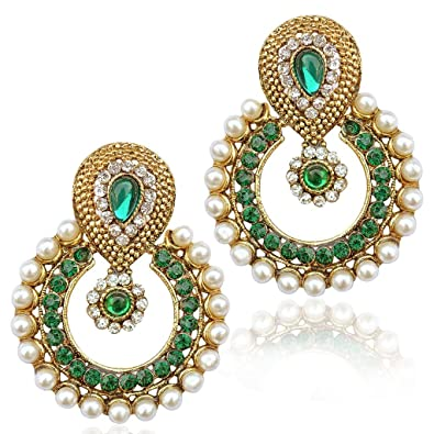 product tone beaded fpx lonna green stone lilly main shop chandelier earrings gold image
