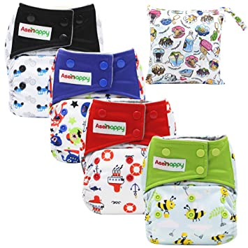 12 U PICK ALL IN ONE AIO Reusable Cloth Diapers Nappies Charcoal Insert Night