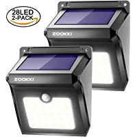 2-Pk. Zookki Wireless Solar 28 LEDs Lights