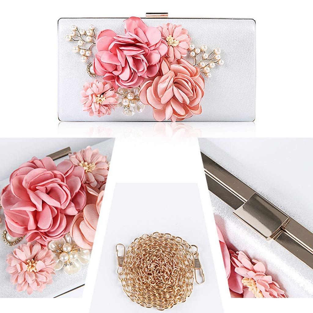 Shoresu Evening Bag Clutch Purses Women Flower Handbag Wedding Party Bridal Shoulder Bags