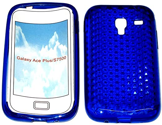 SDK- Smart Diamond Pattern Super Gel TPU Case Cover Pouch For Samsung  Galaxy Ace Plus GT S7500 In Royal Blue    Many More Amazing Colours  Available!