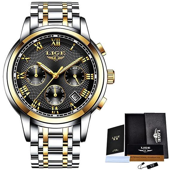 Reloj los hombres moda reloj cuarzo lujo para hombre Relojes lujo acero completo reloj pulsera oro