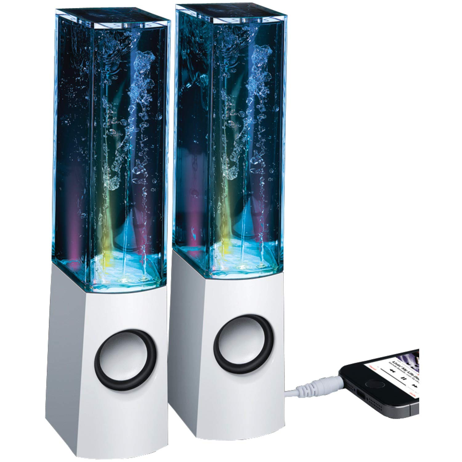 Merkury Innovations Rhythm Universal Led Water Dancing Baby Boomer 600w Dual 8quot Subwoofer Electronicswoot Stereo Speakers Home Audio Theater