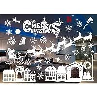 Outgeek Christmas Window Sticker Snowflake Decor Wall Sticker Showcase Art Decal