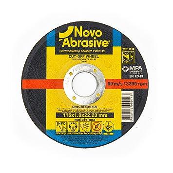 NOVOABRASIVE - Disco de corte (115 x 1 x 22,2 mm, 50 ...