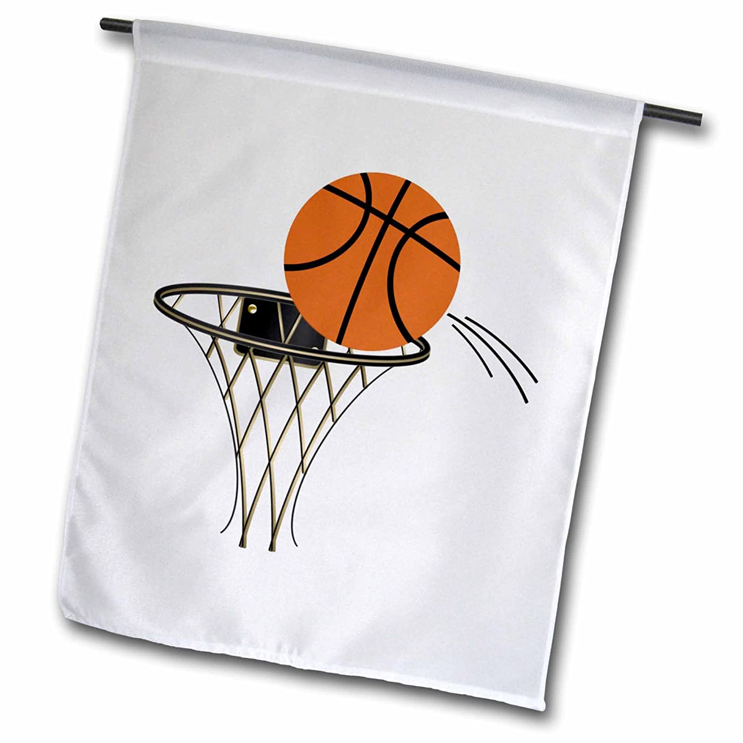 3drose Fl 165460 1 Cartoon Basketball Basket Garden Flag 12 By 18 Inch Amazon In Garden Outdoors