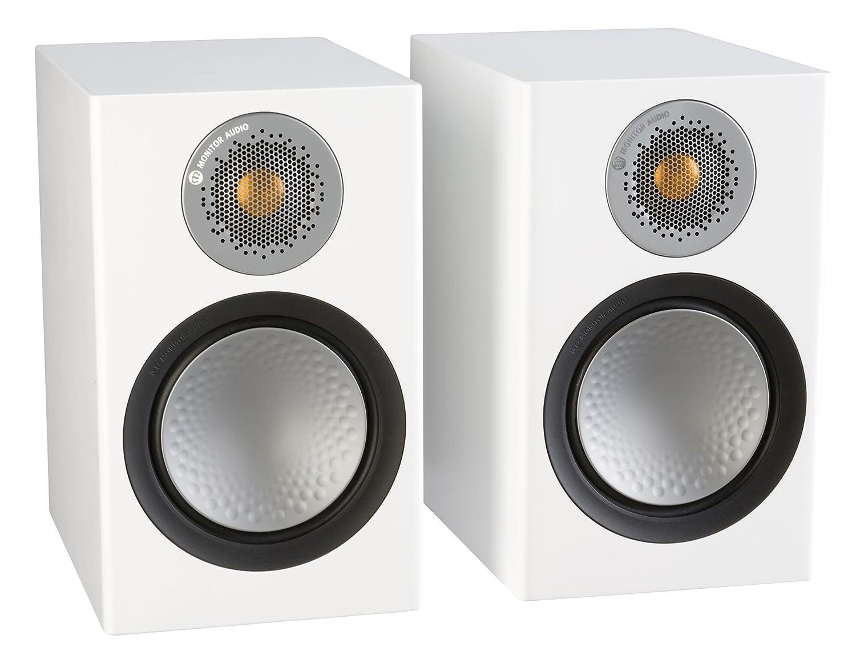 モニターオーディオシルバー50 Bookshelf Speakerサテンホワイトペア B07BKRF1SG