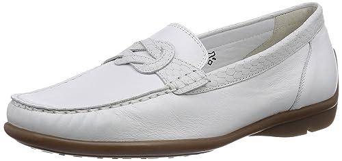 Waldläufer Harriet - mocasines de piel mujer, color blanco, talla 43: Amazon.es: Zapatos y complementos